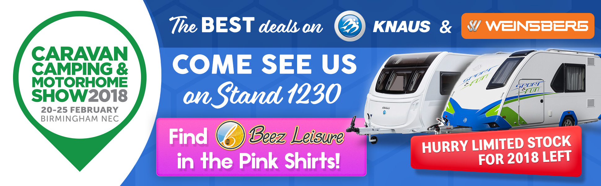 Beez Leisure at Caravan and Camping Show February